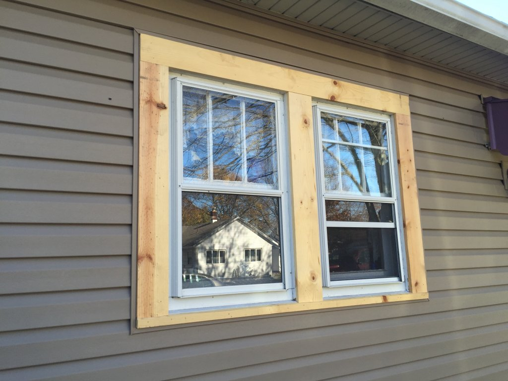 Timbercrest premium vinyl siding installation window wrap edgerton ohio for Installing exterior window trim on siding
