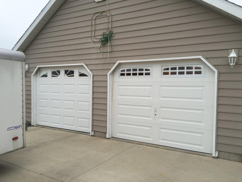 in addition i can swap out your old garage door opener with a new genie a flat rate applies for all these services