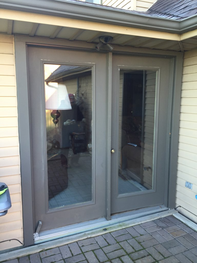 Adorable 40 exterior patio door trim inspiration of for Exterior wood sliding doors