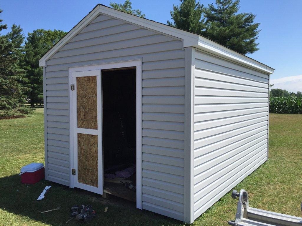 10 x 14 storage shed refurbish hicksville ohio for 10x14 garage door