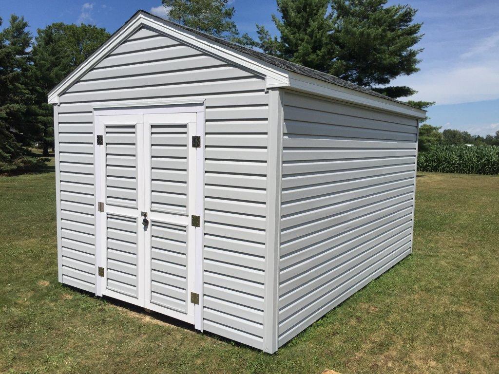 10x14 Storage Shed Refurbish (Roof, Vinyl Siding, Vinyl Trim, Alum Soffit/Fascia) - Hicksville, Ohio