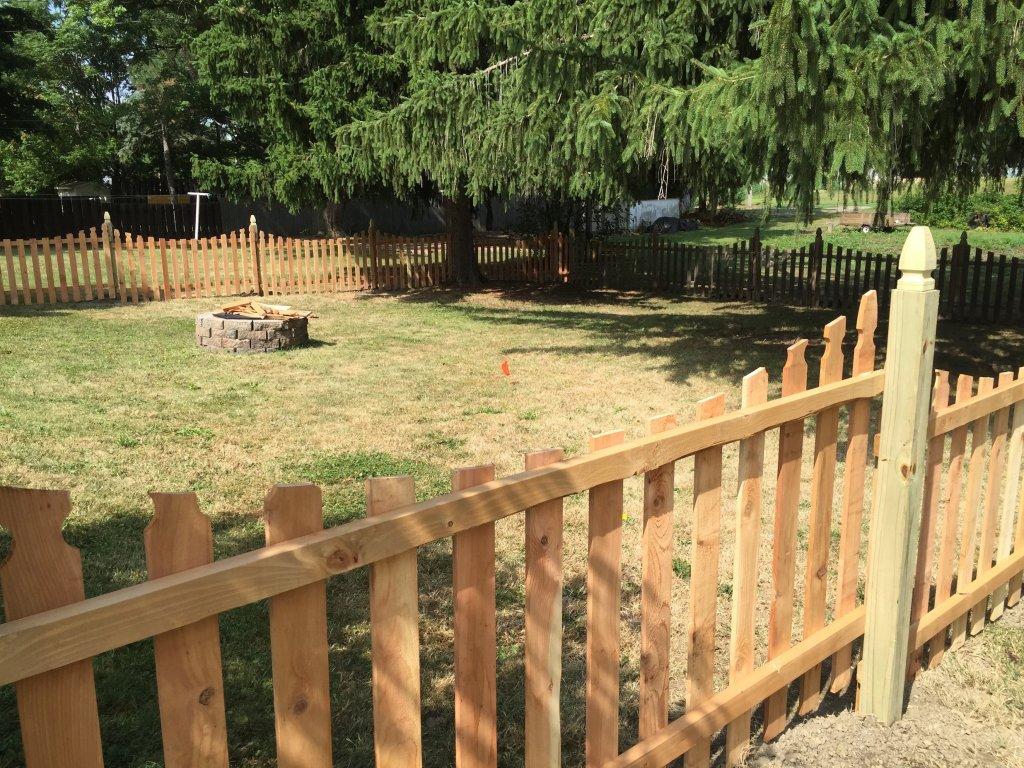 wood fence install johnsville ohio