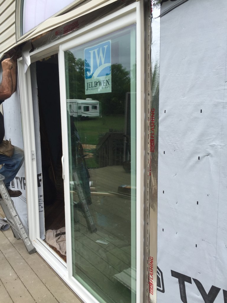 ... Window Flashing, And Laid A Double Bead Of Silicone Caulk Under The  Sill. 100% SEALED! I Have A Flat Rate For Patio Door Installation, ...