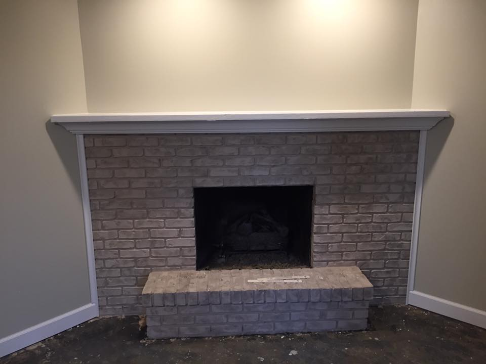 Living Room Remodel - Hicksville (dry wall finishing, crown moulding, fireplace, baseboard, casing)