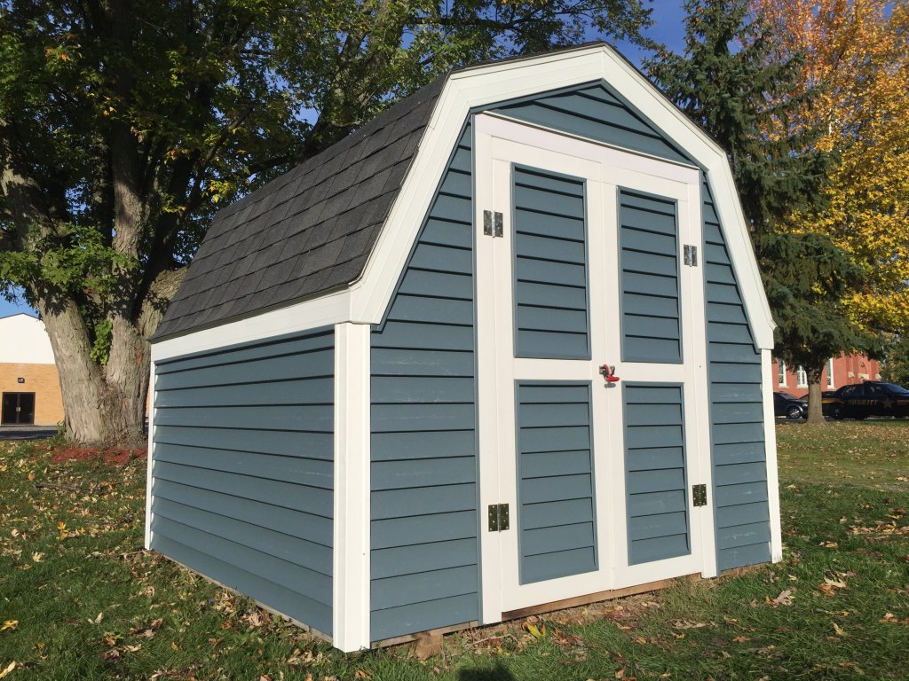 8 x 8 Shed Refurbish - TimberCrest Vinyl Siding, Alum Fascia - Payne, Ohio - Hicksville, Ohio - Edgerton, Ohio