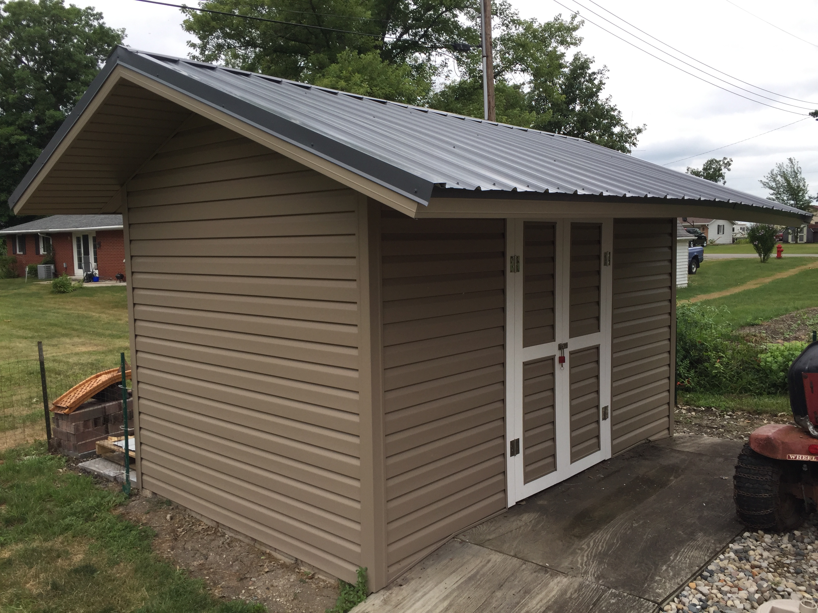 8 x 16 Storage Shed Refurbish – Sherwood, Ohio