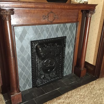 Victorian Fireplace Refurbish – Slate Mosaic Tile – Hicksville, Ohio