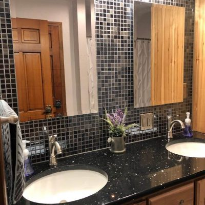 Bathroom Remodel with Mosaic Tile Backsplash – Ney, Ohio