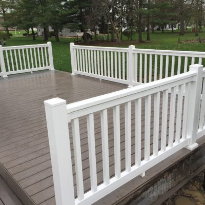 12 x 22 Composite Deck Construction – Bryan, Ohio