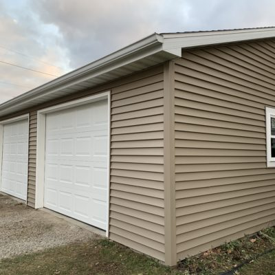 Garage Renovation – TimberCrest Siding, Ideal Overhead Doors, Crestline Windows