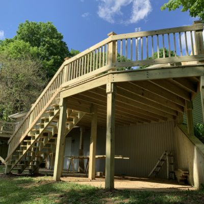 Treated Wood Deck Construction – Hicksville, Ohio