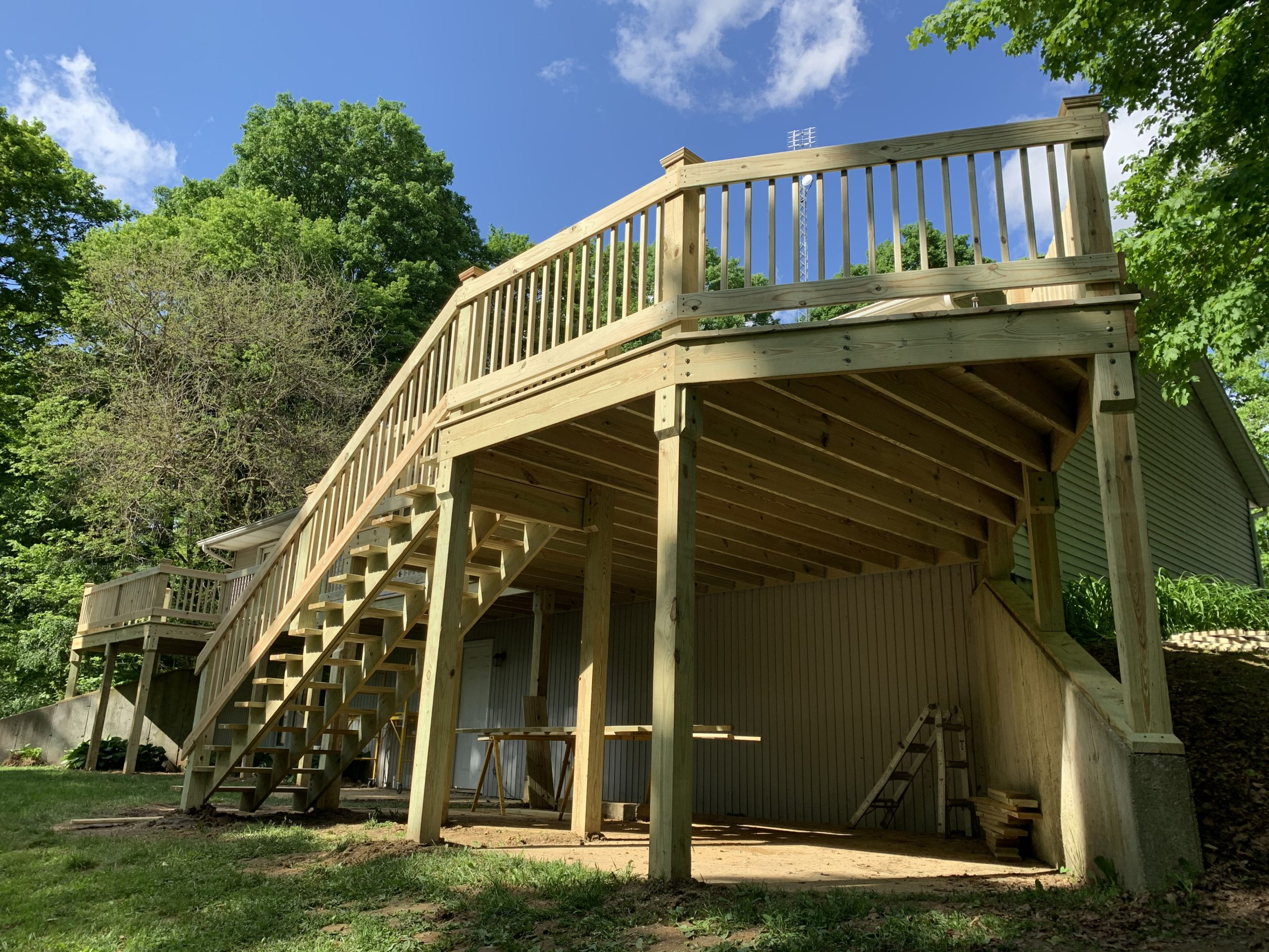 Treated Wood Deck Construction – Hicksville, Ohio