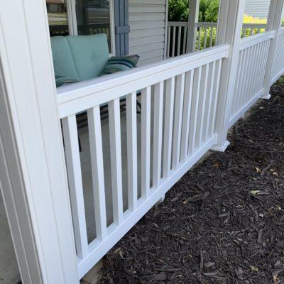 Porch Refurbish (Rails & Post Wrap) – Hicksville, Ohio