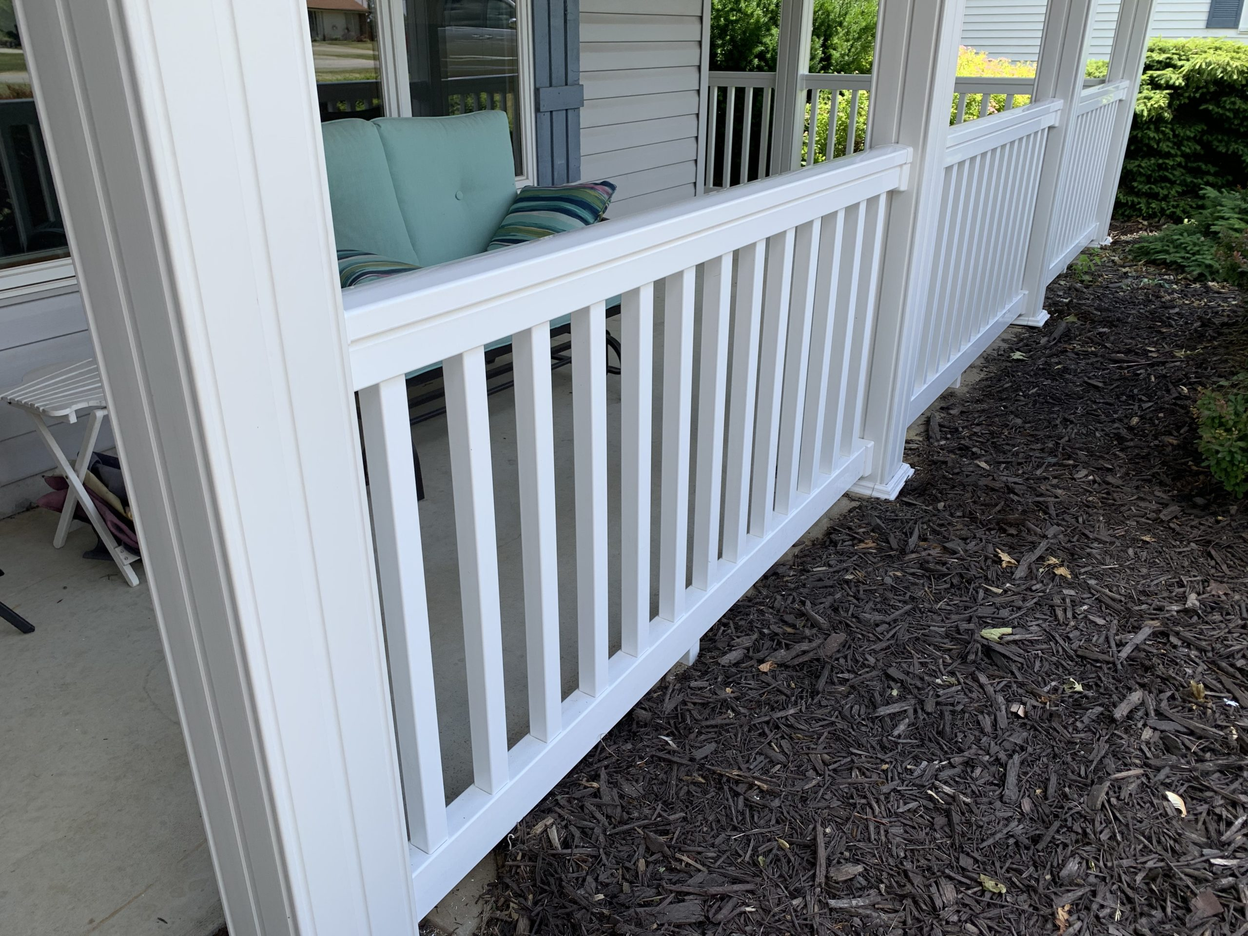 Porch Refurbish (Rails & Post Wrap) – Hicksville, Ohio
