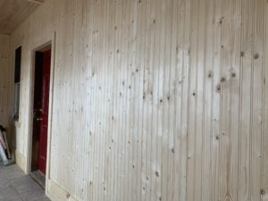 Breezeway Refurbish - Rustic Knotty Pine Beaded Planks - Hicksville, Ohio